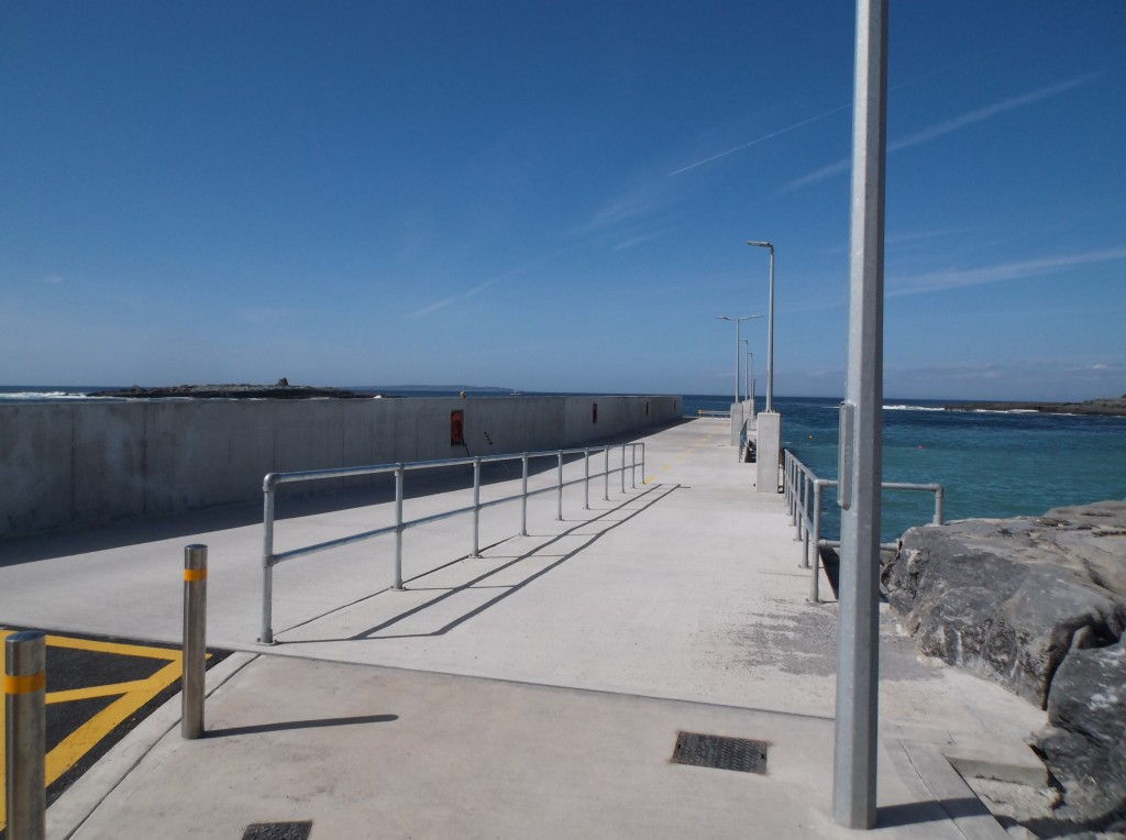 Doolin pier on a sunny day