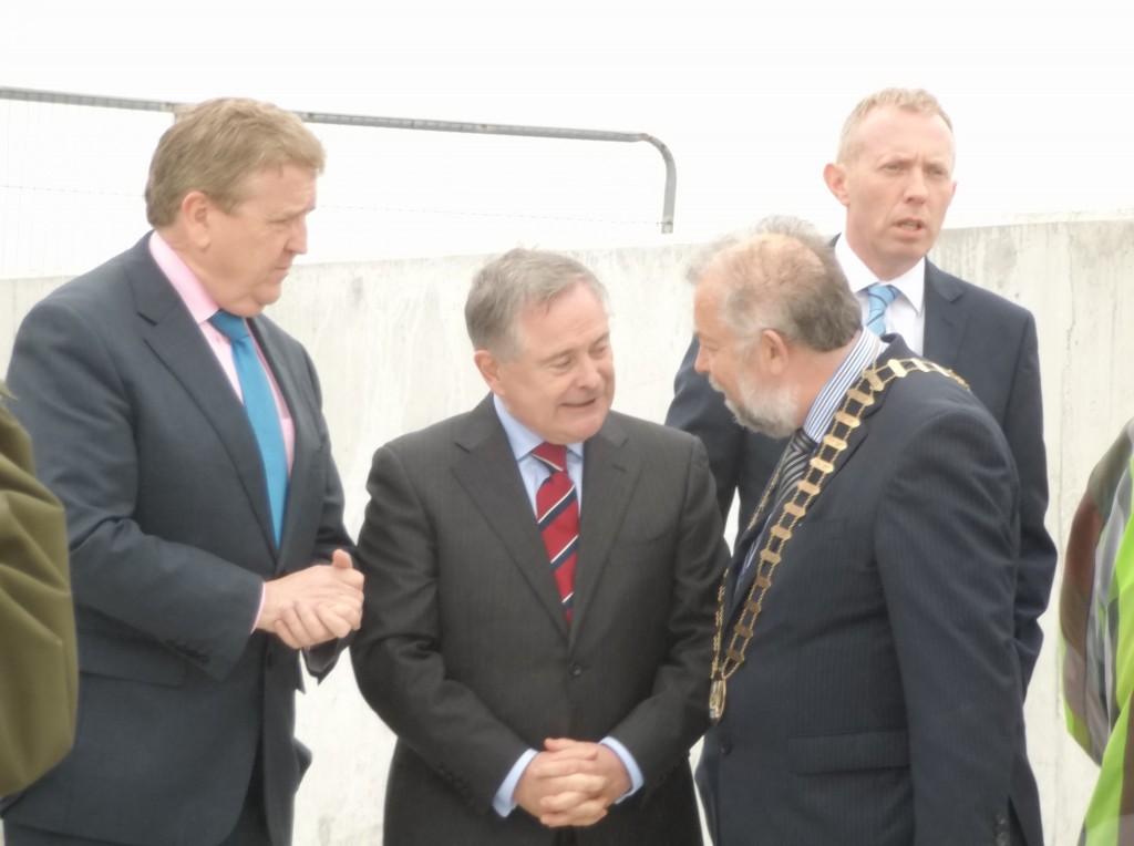 Doolin Pier. Tom Coughlan, Brendan Howlin and John Crowe
