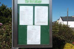 ivy cottage menu